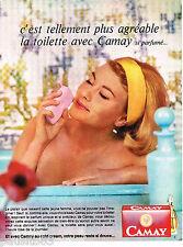 PUBLICITE ADVERTISING 065  1965  CAMAY   savon