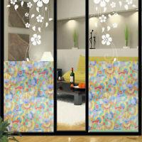 Bunt Geometrisch Elektrostatisch Sticker PVC Glas Film Fenster Decals Isolierung