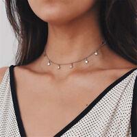 1Pcs Women Gifts Choker Nice Necklace Chocker Star Gold Chain New Simple Jewelry