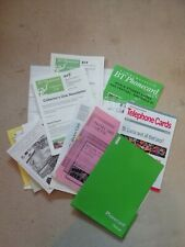 JOBLOT PHONE CARD EPHEMERA,EARLY 1990s, AUCTION CATALOGUES, MAGS,MIXED LOT, USED