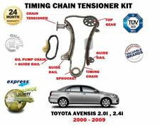 FOR TOYOTA AVENSIS + VERSO 2.0i 2.4i VVTI 2000-2009 TIMING CHAIN TENSIONER KIT