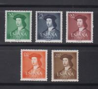 ESPAÑA (1952) SERIE COMPLETA EDIFIL 1106/10 NUEVOS SIN FIJASELLOS MNH - LOTE 1