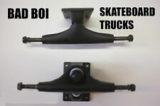 BAD BOI PAIR OF BLANK SKATEBOARD TRUCKS BLACK SKATE CRUISER LONGBOARD 5.0''