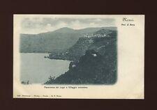 Italy NEMI Panorama del Lago e Villaggio omonimo c1902 u/b PPC