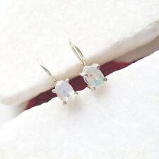 Mondstein oval schlicht Design Hänger Ohrringe Ohrhänger 925 Sterling Silber neu