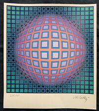 VICTOR VASARELY-lithograph signed on original paper of 70's -kinetic composition