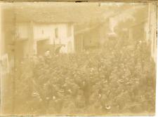 France, Militaires, Réunion des chasseurs de Savigny 1897 vintage citrate print