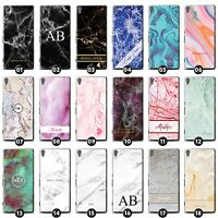 Personalized Marble Phone Case/Cover for Sony Xperia X Initial/Name/Custom DIY