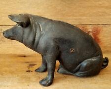 Vintage CAST IRON PIGGY Doorstop PIG Bank Good & Heavy Weighs 5 lbs.