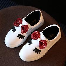 Kid Infant Eyelash Casual Shoes Baby Girls Child Lovely Bow Leather Shoes