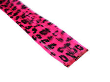 "CLIP-IN 12"" HAIR EXTENSION NEON PINK LEOPARD EMO SCENE"