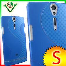 Pellicola display+Custodia WAVE Azzurra per Sony Xperia S LT26i cover aderente