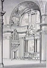 Rome CHURCH OF GESÙ SOCIETY OF JESUS JESUITS CATHOLIC ~ 1850 Art Print Engraving