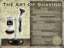 Art Of Shaving large steel sign 400mm x 300mm (og)