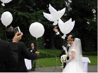 White Dove Helium Balloons Wedding Christening Party Funeral celebration event