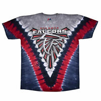 Men's Atlanta Falcons V Tie-Dye T-Shirt Officially Licensed NFL Tee M L XL 2XL