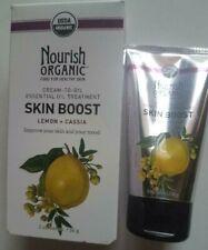 Nourish Organic Cream To Oil Skin Boost Lemon+Cassia 2 oz. New