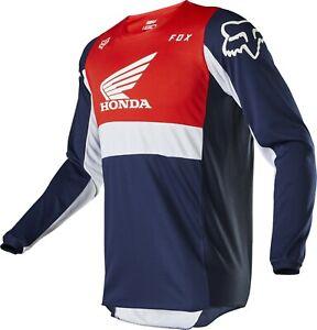 Fox 180 Honda Navy Red Motocross MX Race Offroad Jersey Adults