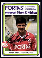 Herbert hoos autogrammmkarte 1 fc kaiserslautern original sign + a 92275