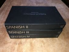 Spanish Pimsleur Approach Method Level II III IV  Gold Edition, Total 48 CD's