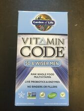 Garden of Life Vitamin Code 50 & Wiser Men 240 Capsules Whole Food Multivitamin