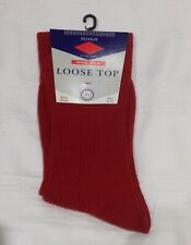 Gents HJ Hall Wool Rich Loose Top Socks Size 6-11 Red Euro 39-46 Made In England
