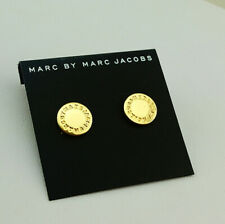 Hot Sale Marc By Marc Jacobs Gold Disc Letters Stud Earrings #E0161
