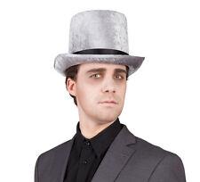 Halloween CILINDRO sombrero plata NUEVO - CARNAVAL SOMBRERO GORRO SOMBRERO