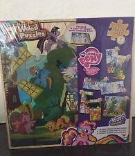My Little Pony Friendship Magic 7 Wood Puzzles In Storage Tray. Sealed