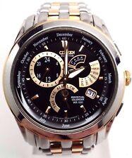 "Citizen Eco-Drive Hombre Calibre 8700 Dos Tonos Negro Esfera Reloj BL8004-53E """