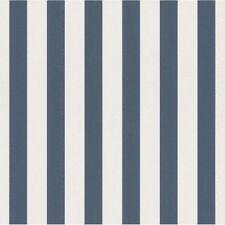 New Rasch - Stripes Kids Room Dark Blue and White Nursery Wallpaper - 246049