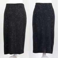 Alfani Women's Pull On Black with Gold Glitter Skirt Size X-Large