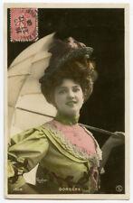 c 1906  French Theater Entertainer ARLETTE DORGERE Dancer Cabaret photo postcard