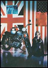 VINTAGE TRIUMPH MOTORCYCLE FACTORY PROMO POSTCARD BROCHURE 1968 TROPHY T100C NOS