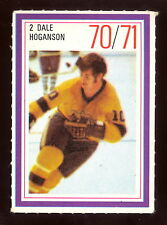 1970-71 ESSO POWER PLAYERS NHL #2 DALE HOGANSON EX-NM L A KINGS  UNUSED STAMP