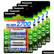 20 x Panasonic AA batteries 2700mAh Rechargeable High capacity Ni-MH Akku LR06