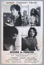 1973 Chick Corea Return To Forever Poster, Berkeley