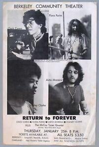 1973 Chick Corea Return To Forever Poster, Berkeley
