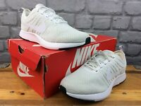 NIKE GIRLS UK 5.5 EU 38.5 DUALTONE RACER WHITE PURE PLATINUM TRAINERS LADIES M