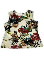Jules & Leopold Women's Top Sleeveless Floral Flower Top - Size XL Shirt Blouse
