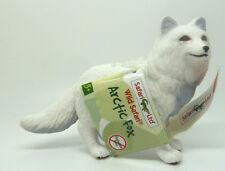 X12)  Safari (28232) Weißer Polarfuchs handbemalte Tierfiguren handbemalt selten