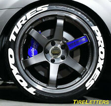 """TIRE LETTERS - 3/4"""" TALL - LOW PROFILE - toyo tires proxes"""