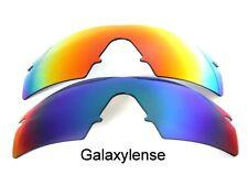 GALAXY Lenti di ricambio Oakley M Frame Strike POLARIZZATI VERDE & ROSSO 2 paia