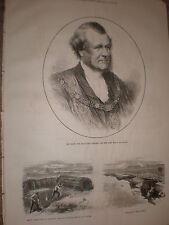 Sir Sills John Gibbons new Lord mayor of London 1871 old print