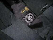 MENS SZ 40R / 40L TAILORED J PRESS PEAK LAPELS 1 BUTTON BLACK TUX TUXEDO 36X32