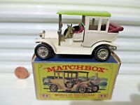Lesney Matchbox MODELS of YESTERYEAR Y3B Cream 1910 BENZ LIMO CHARTREUSE ROOF