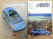 CITROEN XANAE CONCEPT CAR BROCHURE + DOUBLE CHEVRON MAGAZINE featuring XANAE. 19