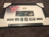Royal Mail Star Wars vehicle 2015 Stamps framed and sealed