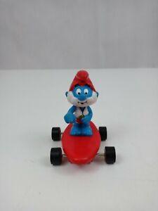 """1984 Applause Peyo Smurfs Surfin' Papa Smurf 2"""" Figure Hardee's Toy"""