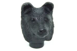 Black Collie Head, handle, black resin for walking stick making special price
